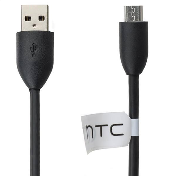 کابل تبدیل USB به microUSB اچ تی سی مدل A01 طول 1 متر