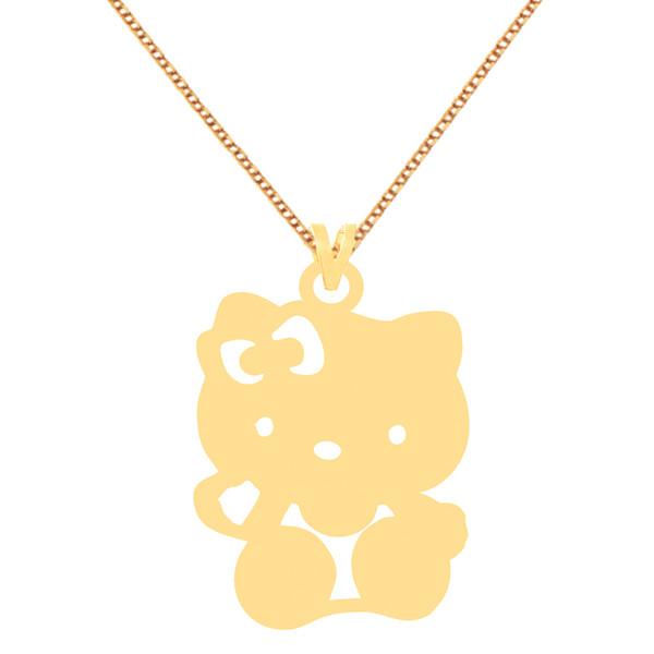 گردنبند طلا 18 عیار زنانه کرابو طرح خرس مدل Kr70370