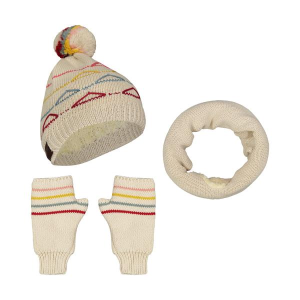 ست کلاه و شال گردن و دستکش بافتنی زنانه رویا مدل 15039-24