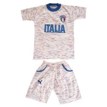 ست تی شرت و شلوارک پسرانه طرح ایتالیا کد 4520