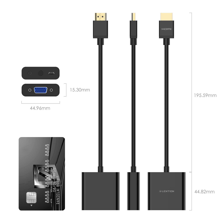 مبدل HDMI به VGA لنشن کد10