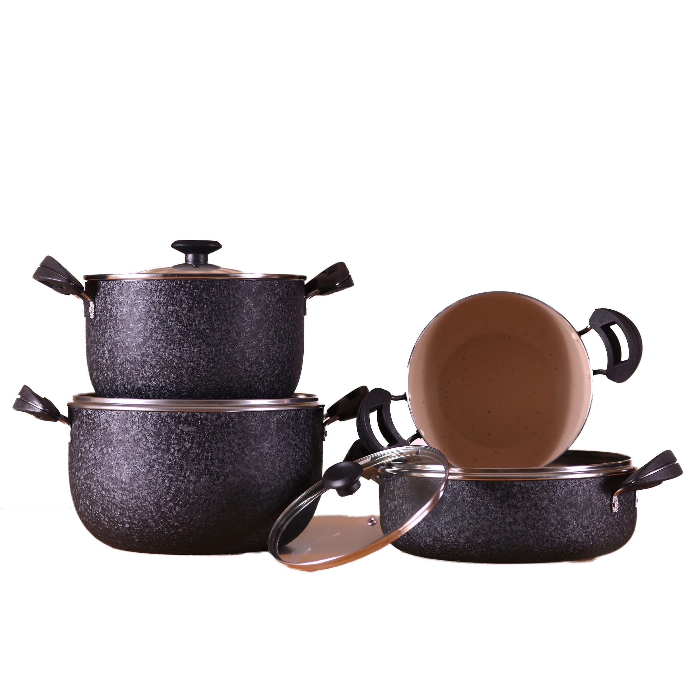 سرویس پخت و پز 7 پارچه ظرف سازان اسدیان مدل باریش