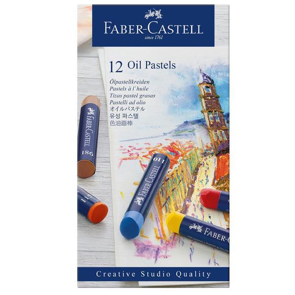 پاستل روغنی 12 رنگ فابر کاستل کد 135366