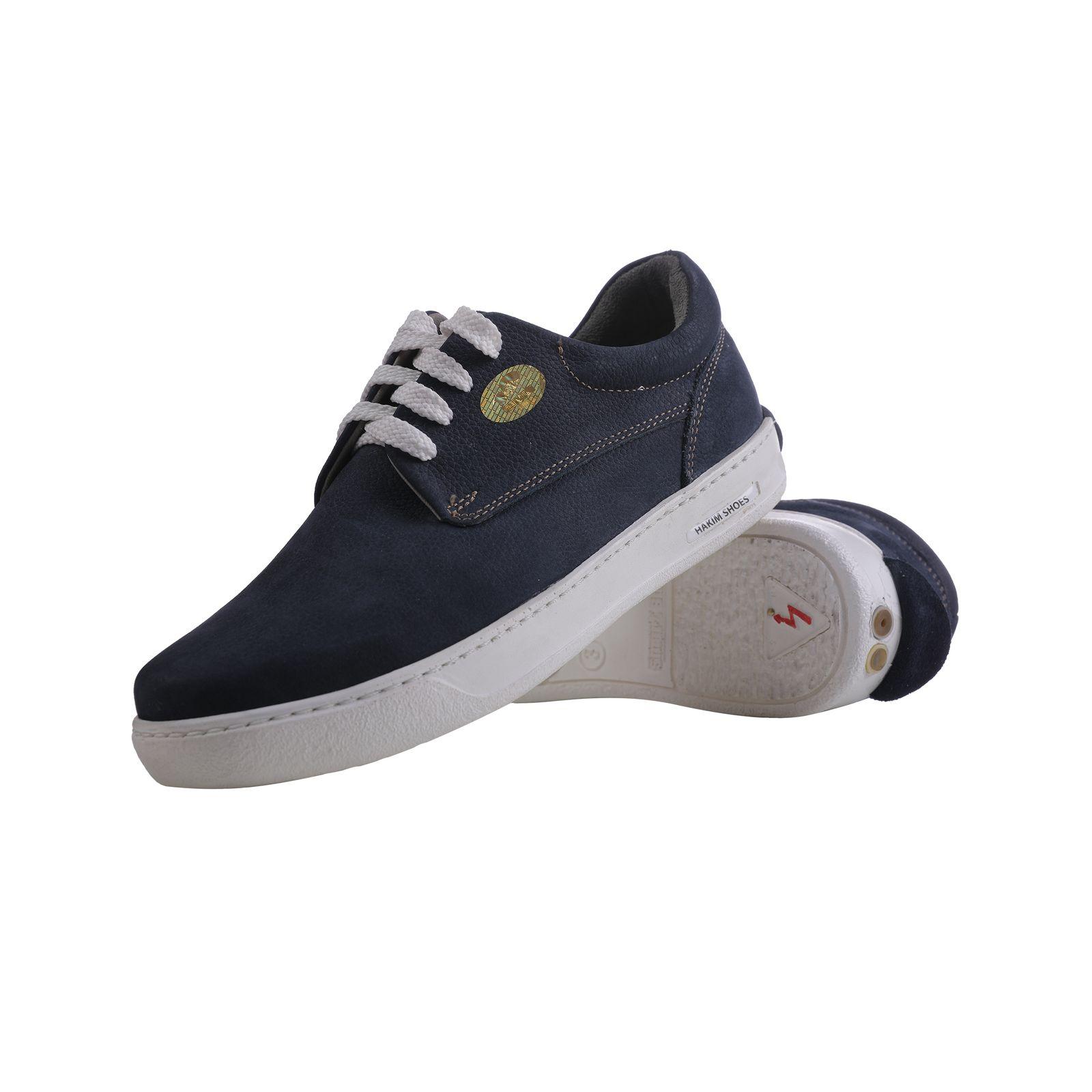 کفش روزمره هوشمند مردانه حکیم مدل T5 رنگ سرمه ای -  - 4