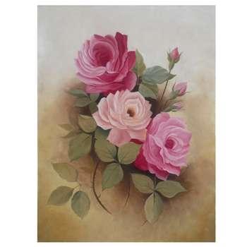 تابلو نقاشی رنگ روغن مدل گل های رز