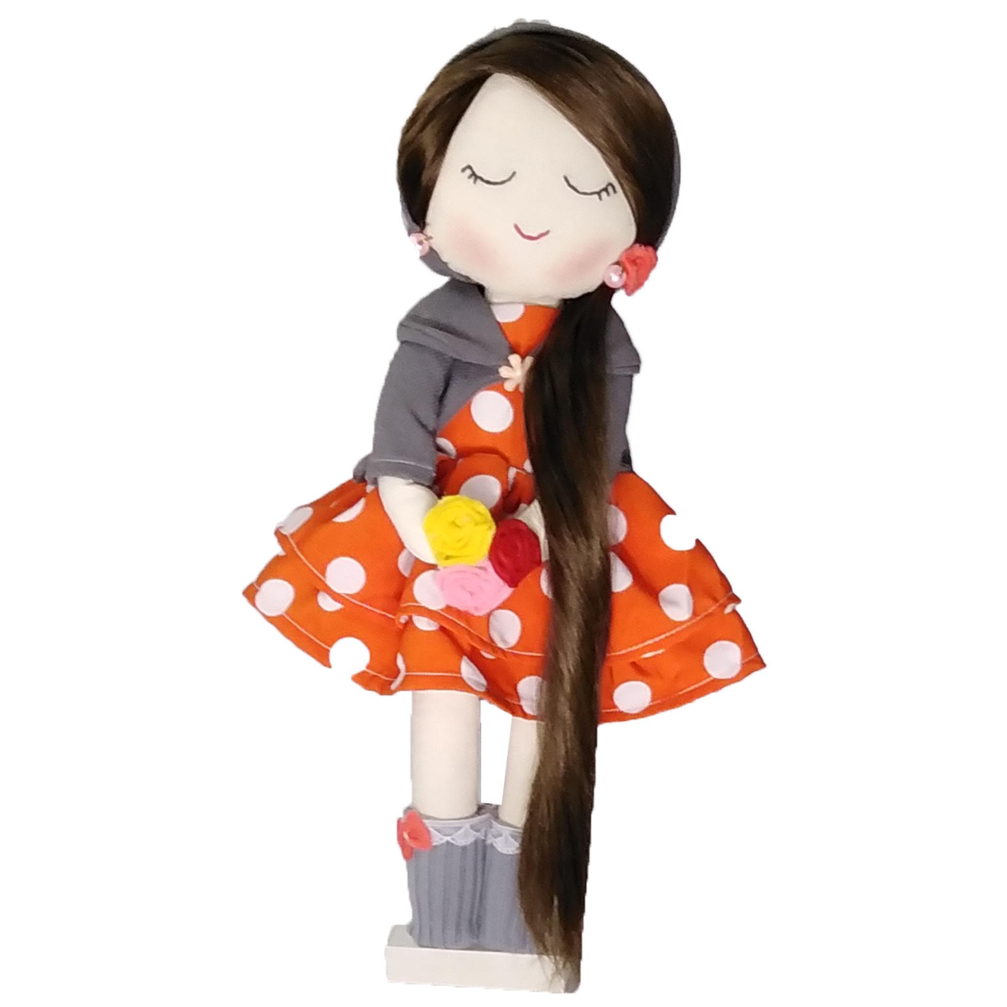 عروسک طرح دختر مدل یاس کد 002 ارتفاع 36 سانتی متر