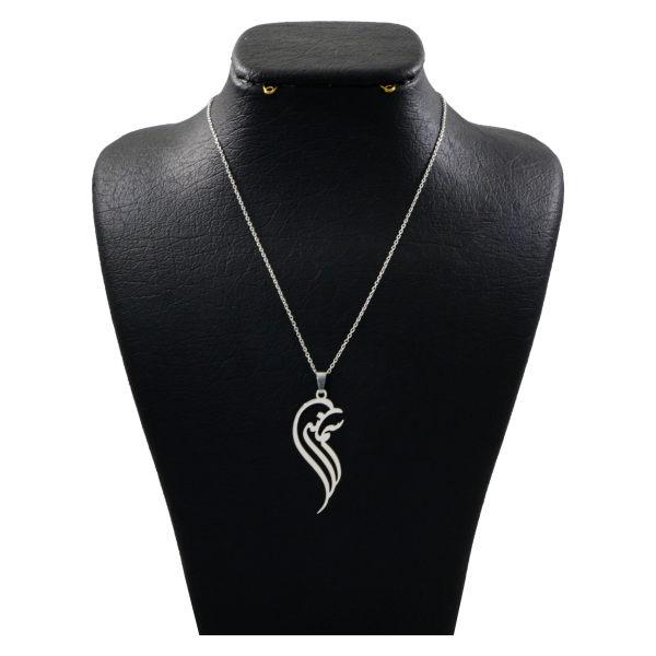 گردنبند نقره زنانه دلی جم طرح سمانه کد D 284