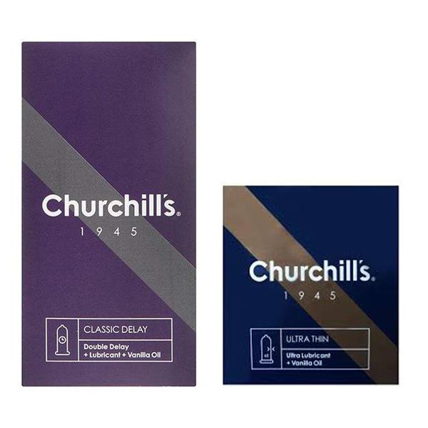 کاندوم چرچیلز مدل Classic Delay بسته 12 عددی به همراه کاندوم چرچیلز مدل Ultra Lubricant بسته 3 عددی