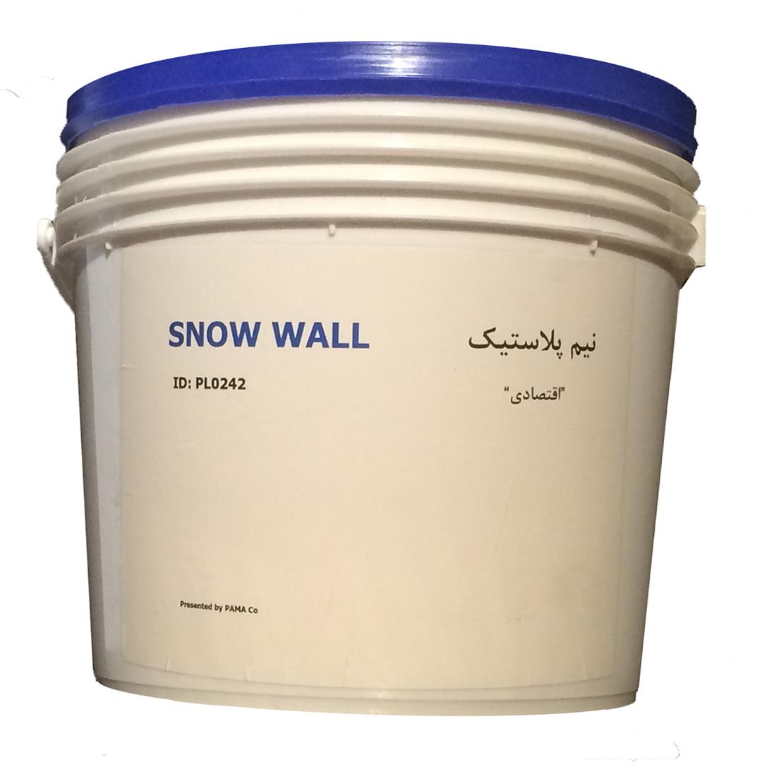 قیمت                                      رنگ سفید نیمه پلاستیک اسنووال کد PL0242 وزن 4کیلوگرم