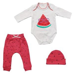 ست 3 تکه لباس نوزادی وچیون مدل هندوانه یلدا مدل 113
