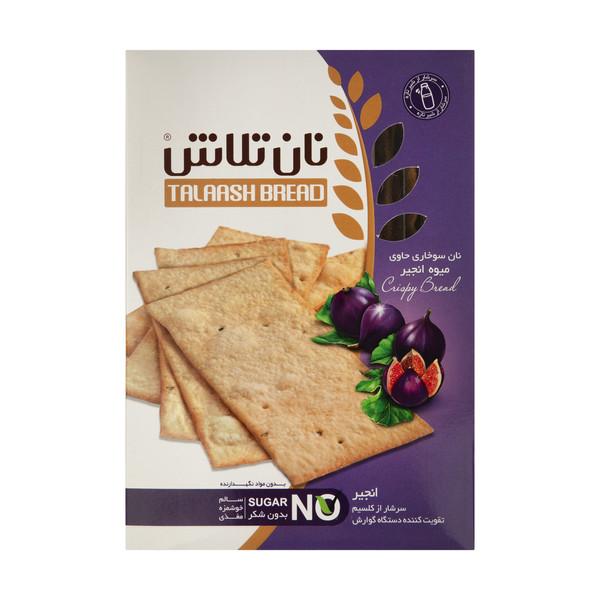 نان سوخاری نان دکتر تلاش با طعم میوه انجیر - 400 گرم