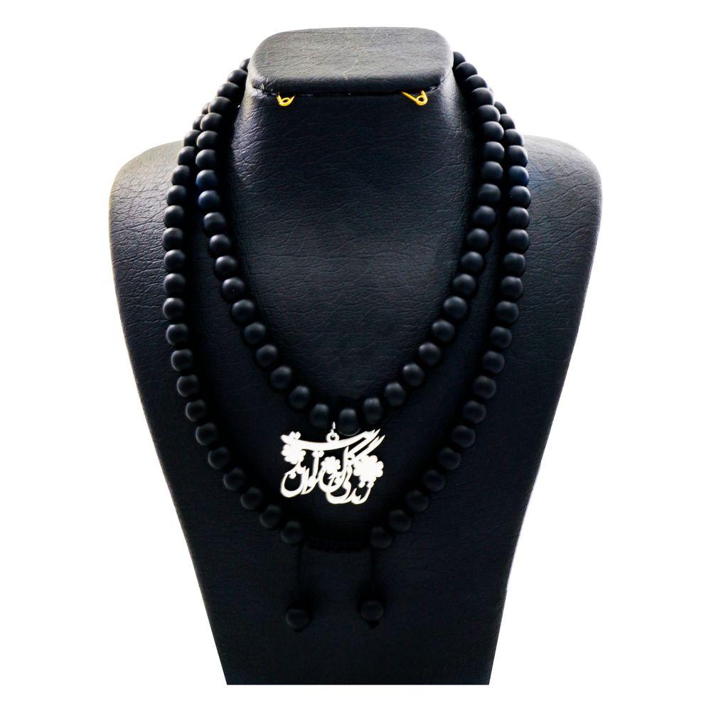 گردنبند نقره زنانه دلی جم طرح زندگی گل به توان ابدیت کد D 80