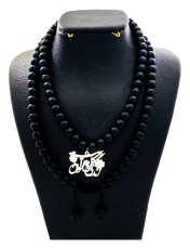 گردنبند نقره زنانه دلی جم طرح زندگی گل به توان ابدیت کد D 80 -  - 1