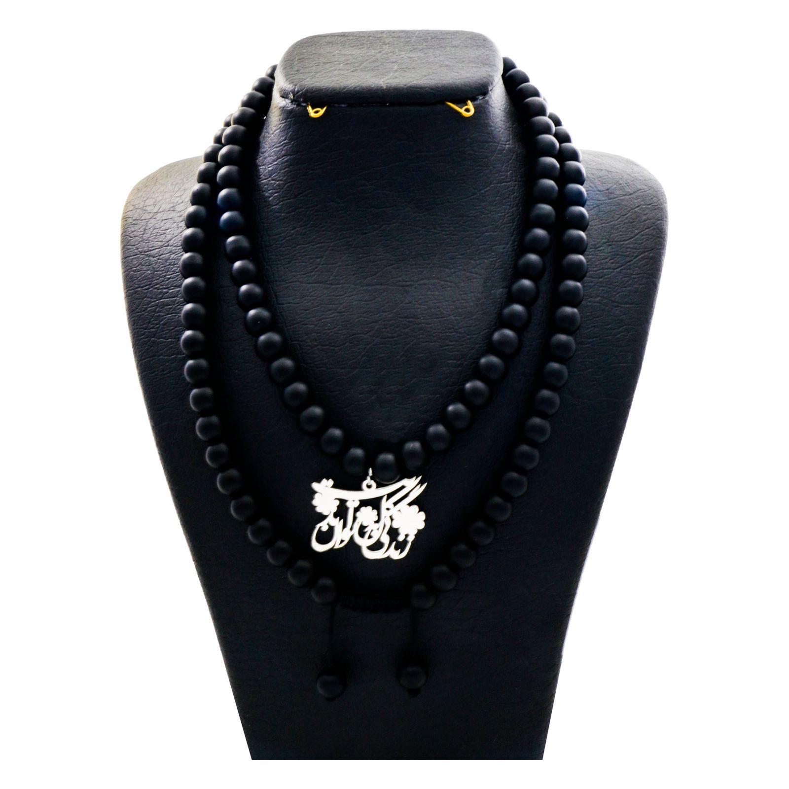 گردنبند نقره زنانه دلی جم طرح زندگی گل به توان ابدیت کد D 80 -  - 2