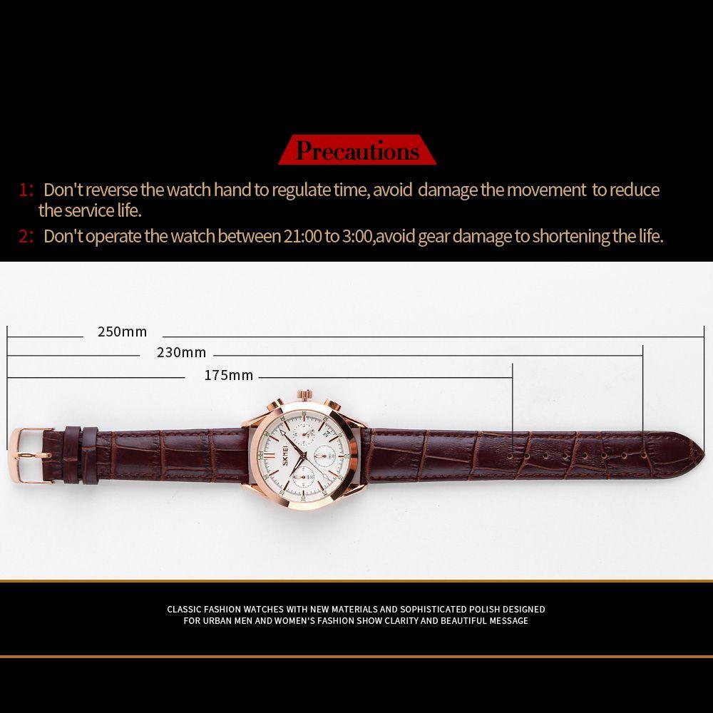 ساعت مچی عقربه ای مردانه اسکمی مدل 9127W-NP -  - 6