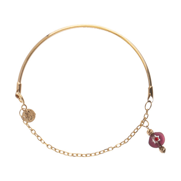 دستبند طلا 18 عیار زنانه مدیسا مدل F1038