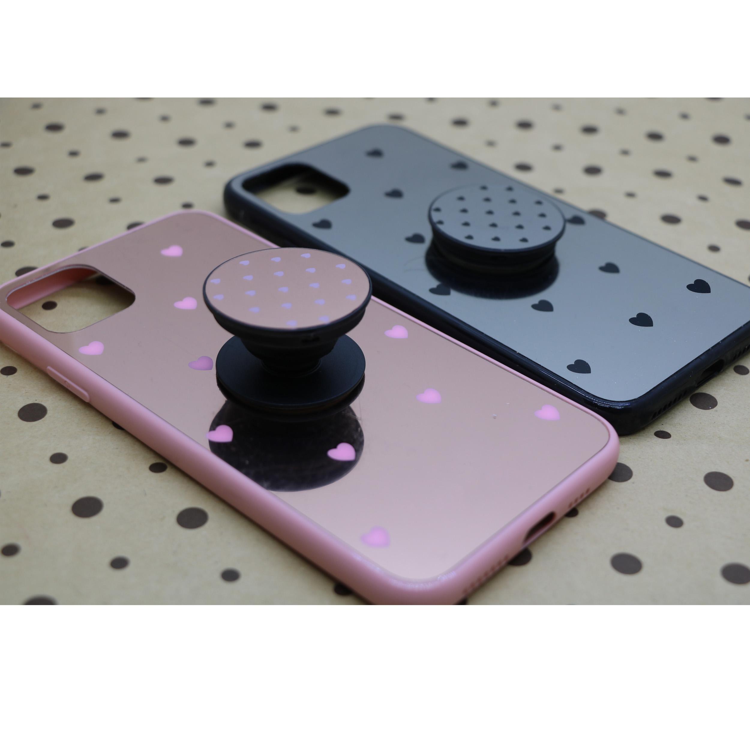 کاور طرح Heart مدل BH-01 مناسب برای گوشی موبایل اپل Iphone 11 به همراه نگهدارنده main 1 3