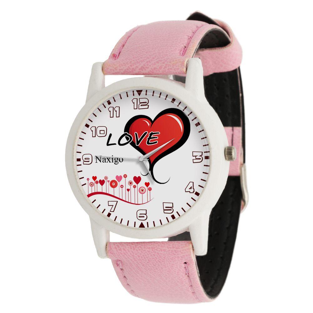 ساعت مچی عقربه ای زنانه ناکسیگو طرح قلب کد LF3312