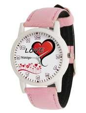 ساعت مچی عقربه ای زنانه ناکسیگو طرح قلب کد LF3312 -  - 1