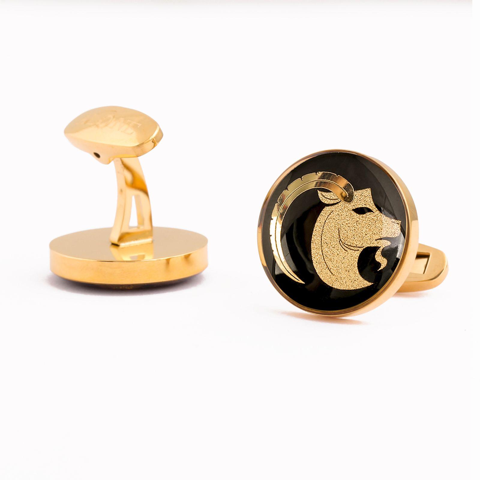 دکمه سردست مردانه الون طرح نماد ماه دی -  - 6