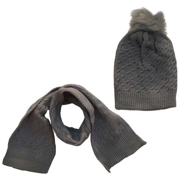 ست کلاه و شال گردن بافتنی بچگانه مدل Tal 15
