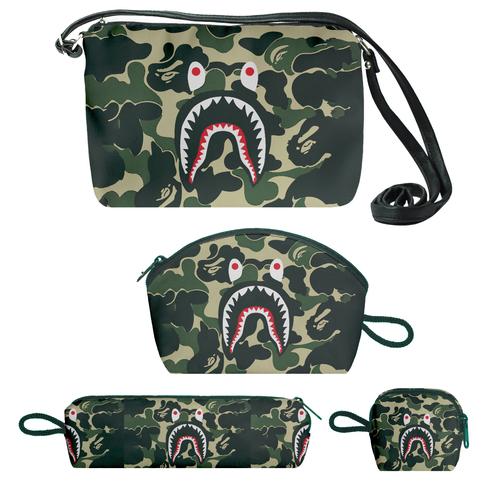 کیف دخترانه طرح ارتشی کد f185 مجموعه 4 عددی