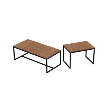 میز جلو مبلی کد 19276 مجموعه 2 عددی