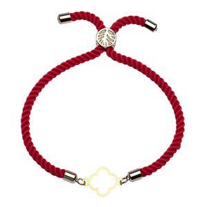 دستبند طلا 18 عیار دخترانه کرابو طرح گل مدل Krd1062