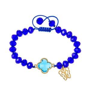 دستبند طلا 18 عیار دخترانه کرابو طرح پروانه مدل Krd1027