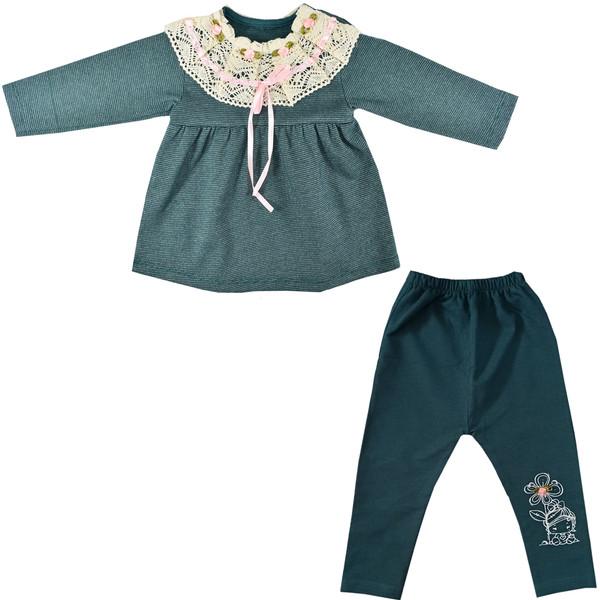 ست بلوز و شلوار نوزادی دخترانه نیروان کد 502 -4