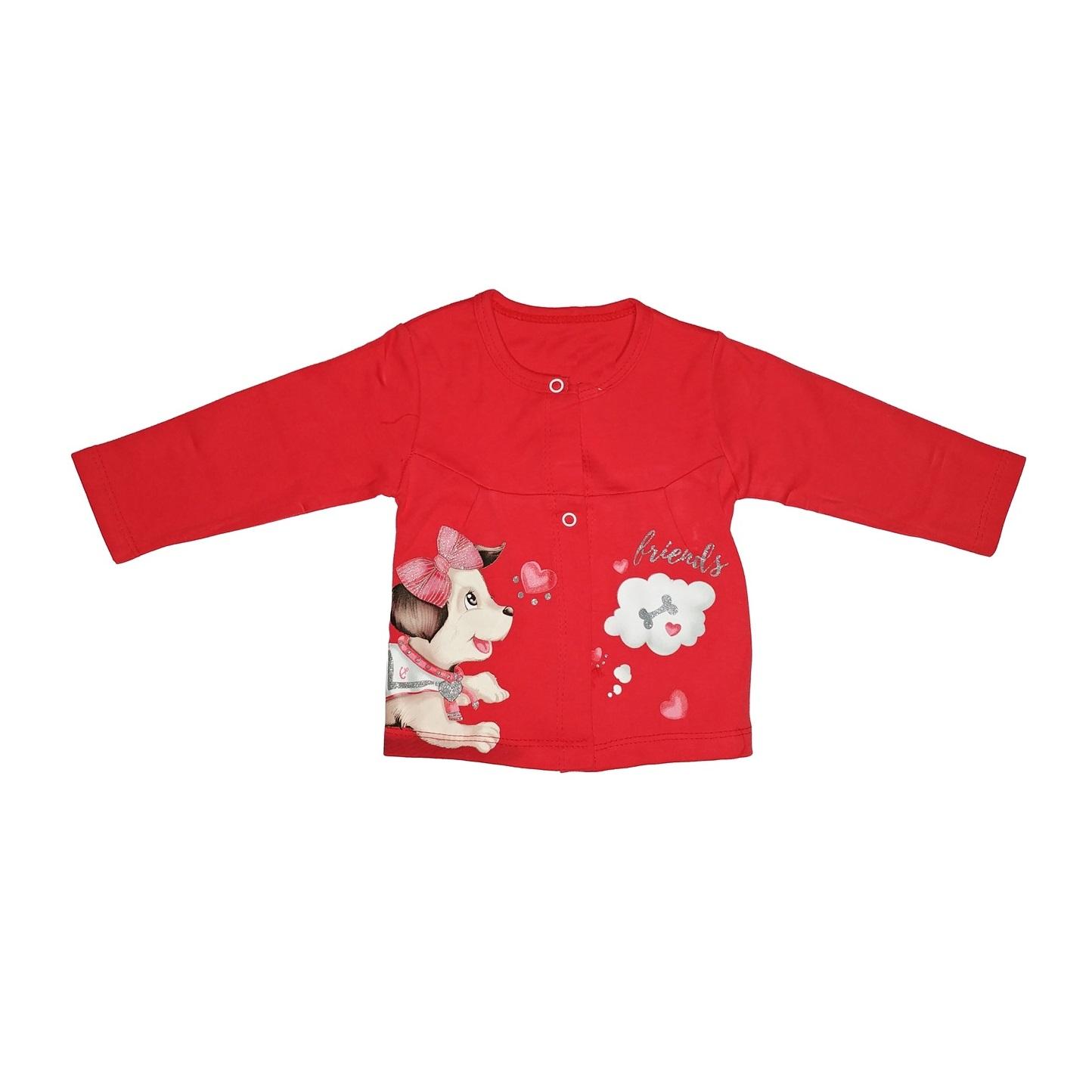 ست 3 تکه لباس نوزاد طرح سگ کد 5555