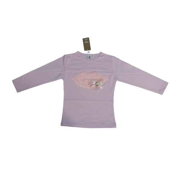 تی شرت آستین بلند دخترانه آی چیلک مدل IC109