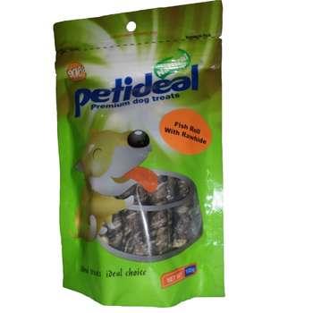 غذای تشویقی سگ پتی دیل مدل Fish Roll With Rawhide وزن 100گرم