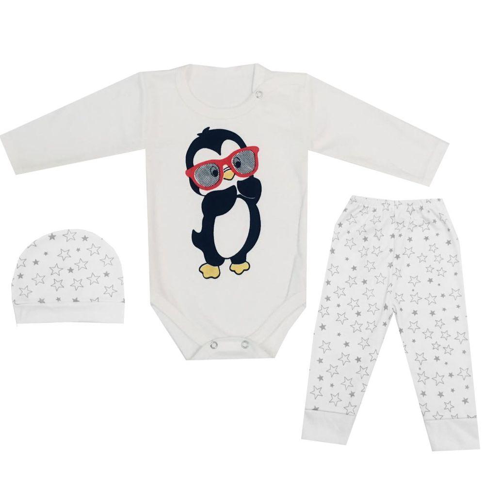 ست ۳ تکه لباس نوزادی کد ۵۰۰