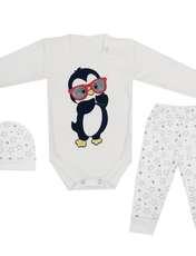 ست ۳ تکه لباس نوزادی کد ۵۰۰ -  - 1