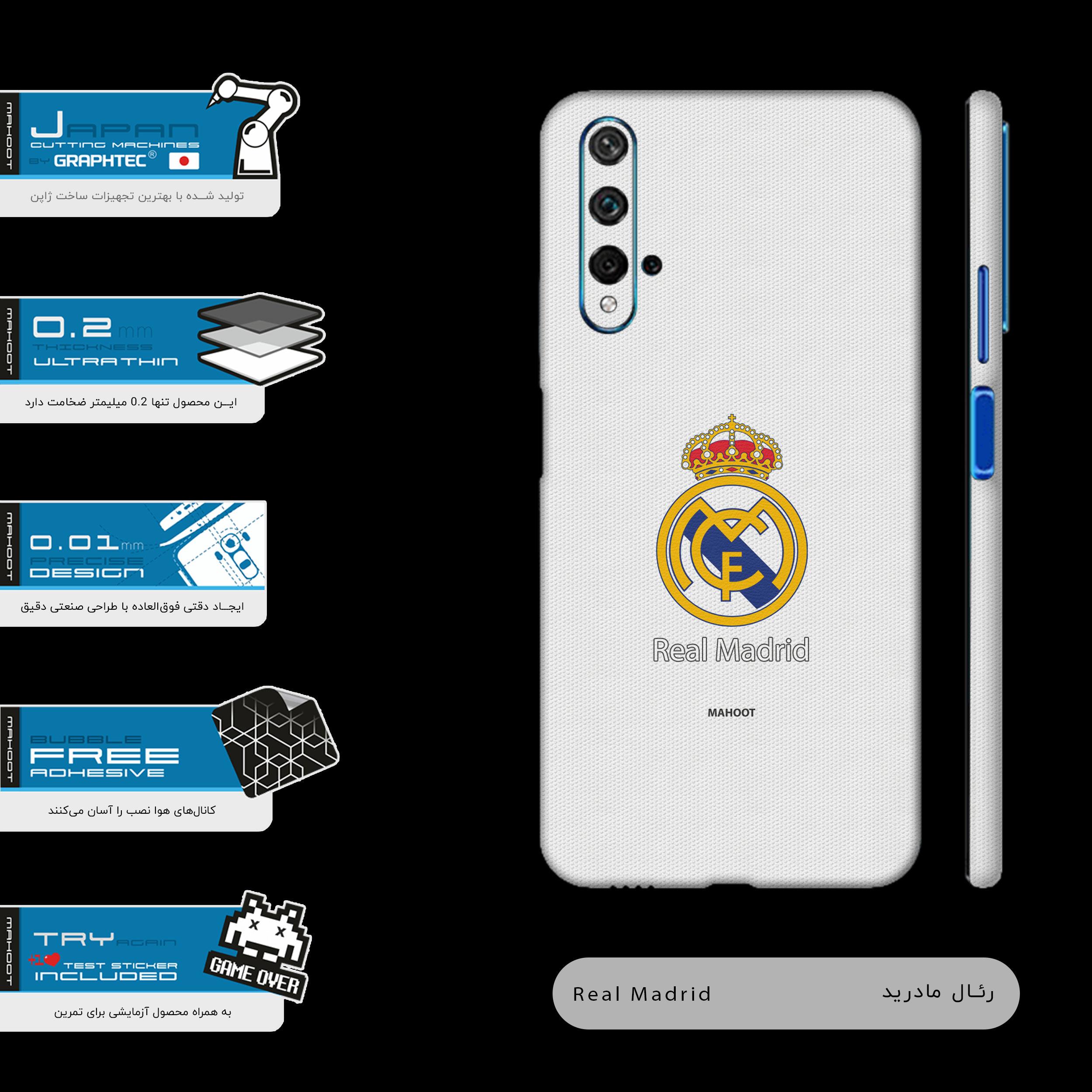برچسب پوششی ماهوت مدل REAL-MADRID-FC-FullSkin  مناسب برای گوشی موبایل هواوی NOVA 5T