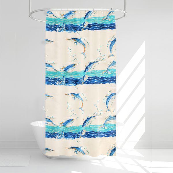پرده حمام آرمیتا کد W023 سایز 180 × 200 سانتی متر