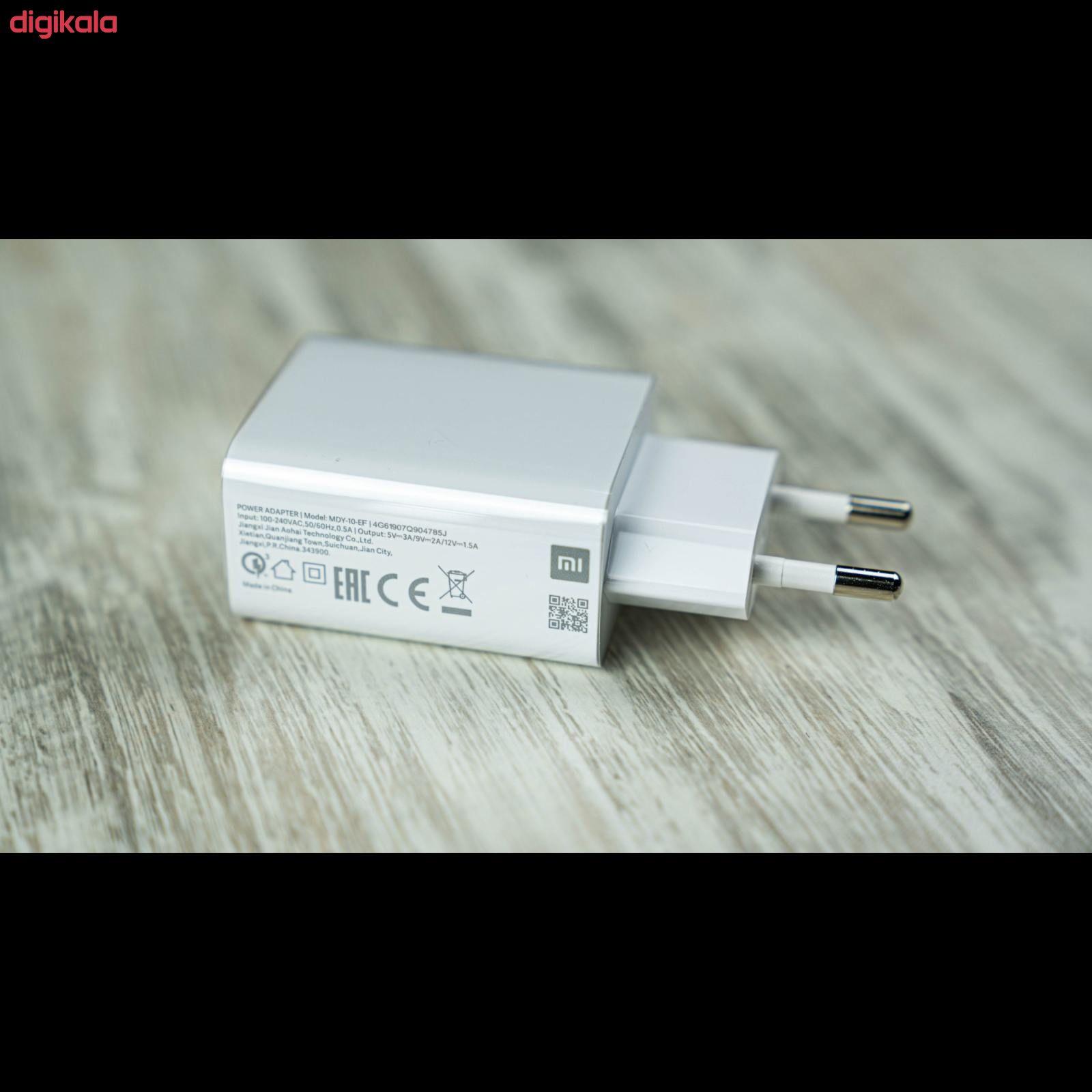 شارژر دیواری شیائومی مدل MDY-10-EF به همراه کابل تبدیل USB-C main 1 2