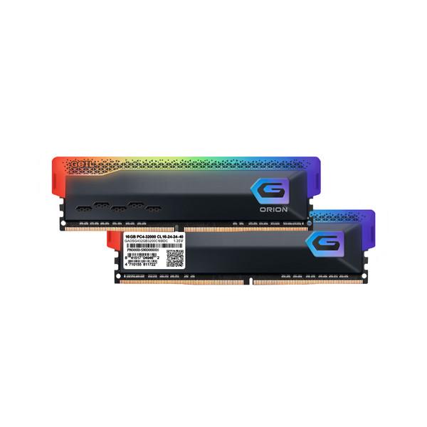 رم دسکتاپ DDR4 دو کاناله 3200 مگاهرتز CL16 گیل مدل Orion RGB ظرفیت 32 گیگابایت