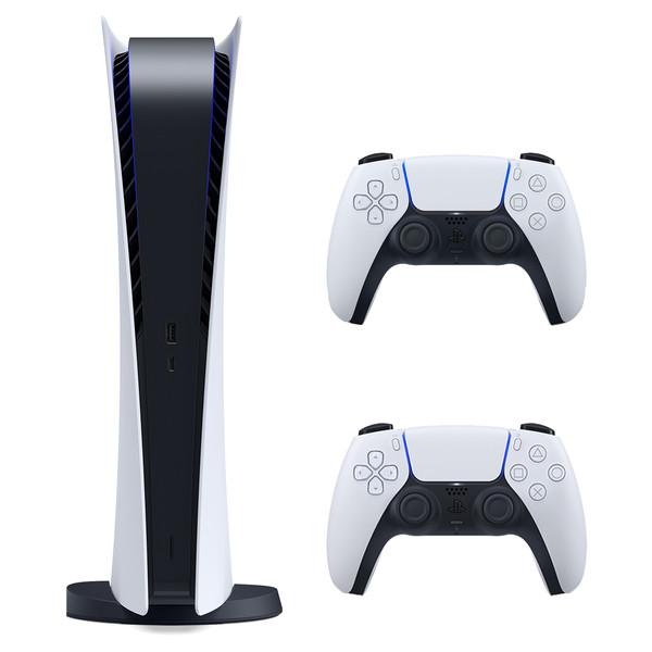 مجموعه کنسول بازی سونی مدل PlayStatio 5 Digital Edition ظرفیت 825 گیگابایت به همراه دسته اضافی