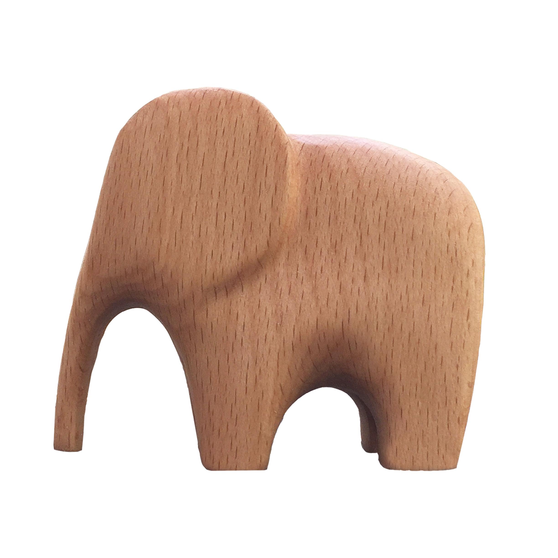 مجسمه چوبی طرح فیل کد Hill01