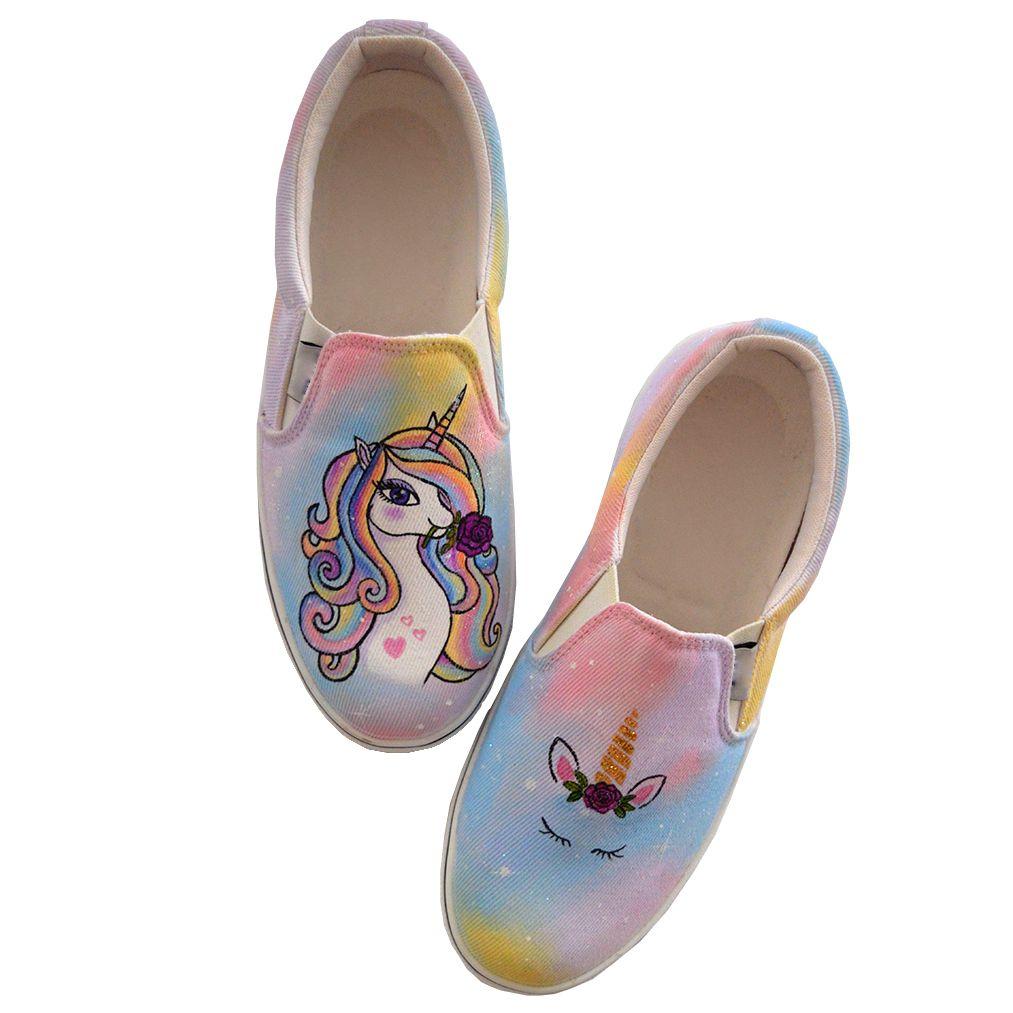 کفش روزمره زنانه دالاوین طرح یونیکورن کد V-17 -  - 2