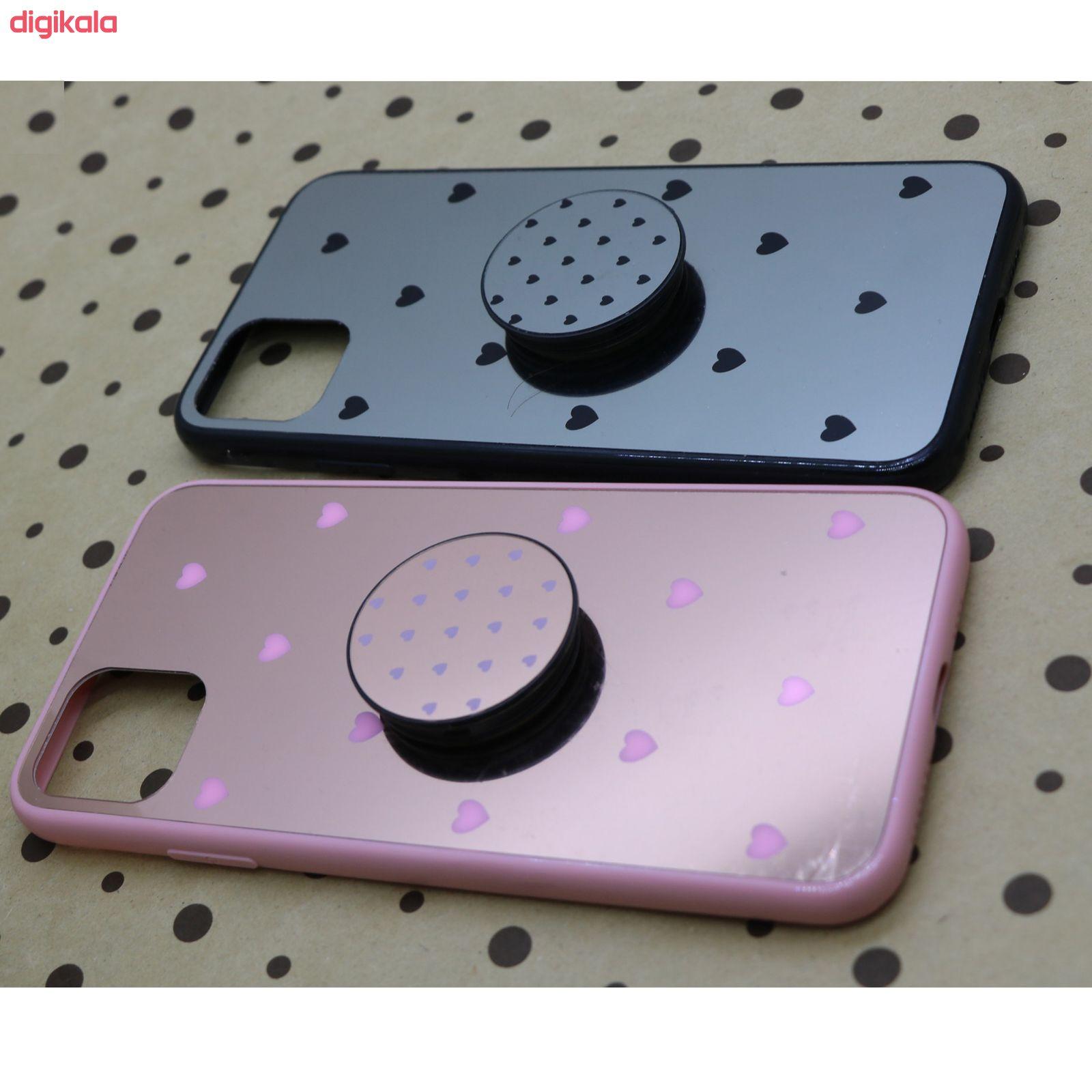 کاور طرح Heart مدل BH-01 مناسب برای گوشی موبایل اپل Iphone 11 به همراه نگهدارنده main 1 5