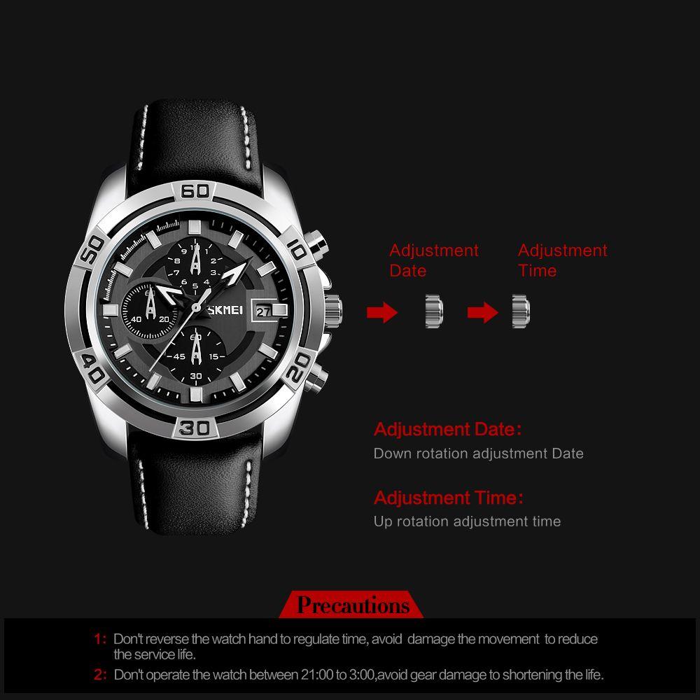 ساعت مچی عقربه ای مردانه اسکمی مدل 9156M-NP -  - 6