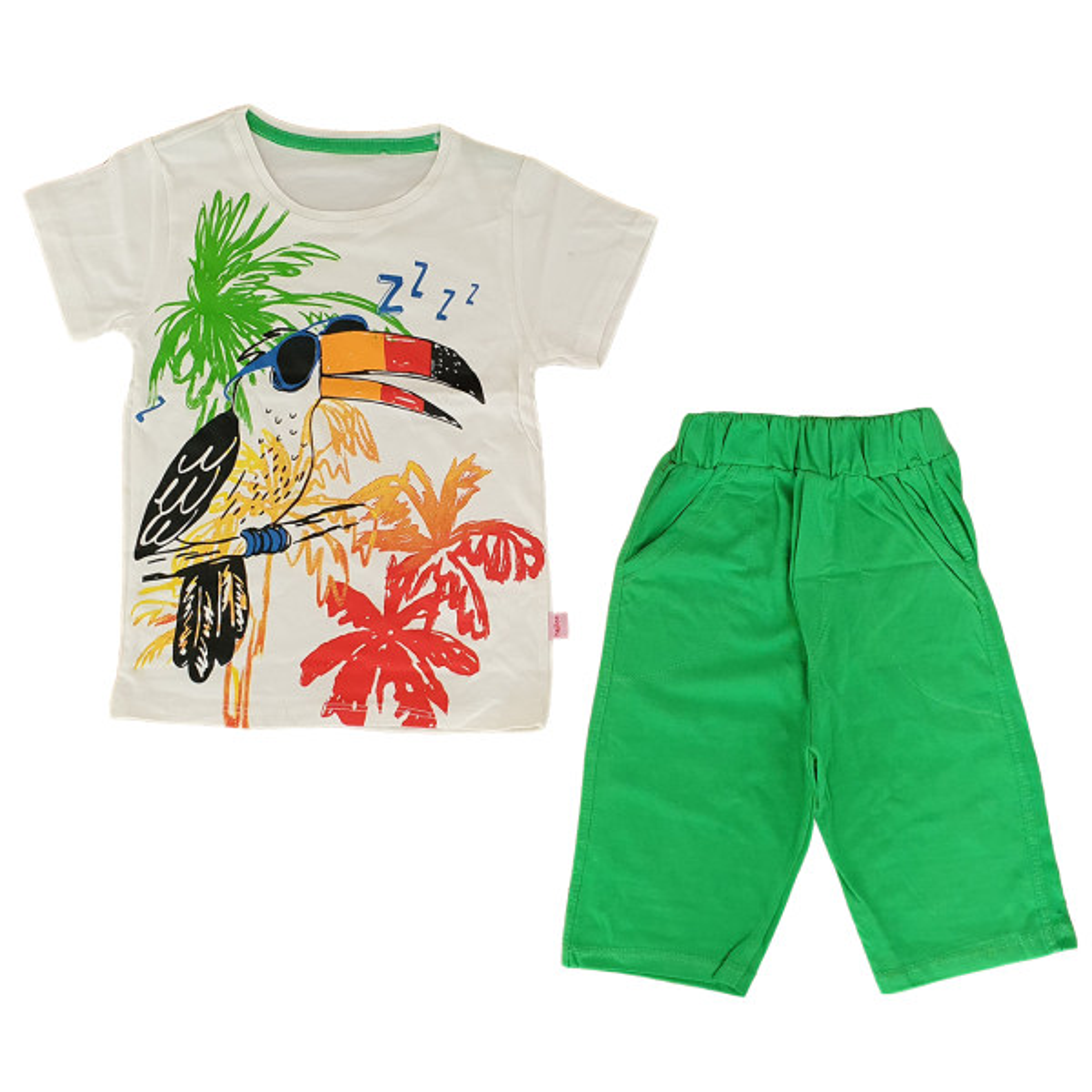 ست تی شرت و شلوارک بچگانه مدل توکا