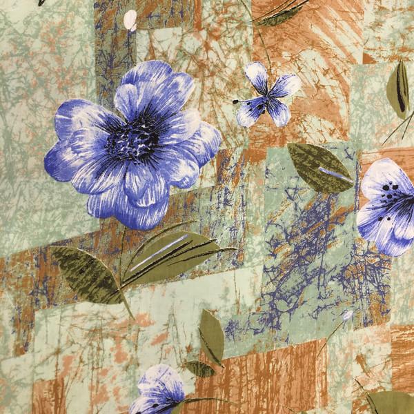پارچه ملحفه نساجی بروجرد مدل گل یخ کد D