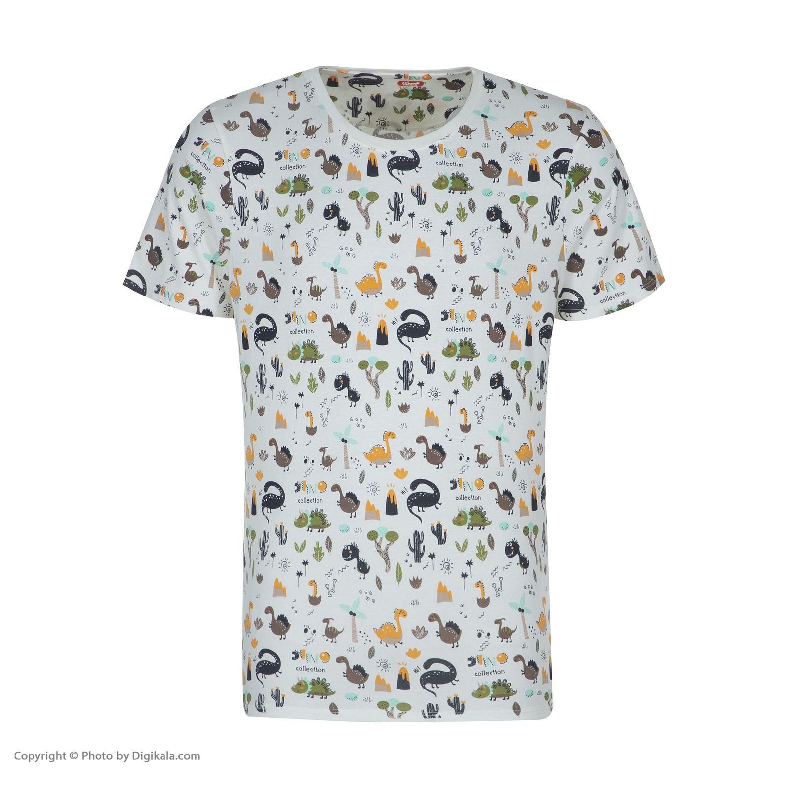 ست تی شرت و شلوارک راحتی مردانه مادر مدل 2041110-07 -  - 4