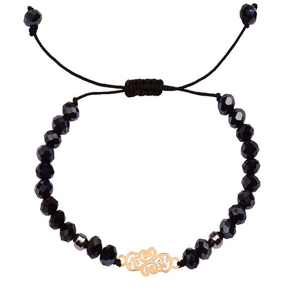 دستبند طلا 18 عیار دخترانه کرابو طرح پیچک مدل Krd1034