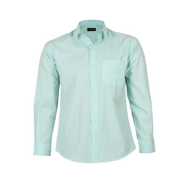 پیراهن آستین بلند مردانه ناوالس مدل NoX8020-GN