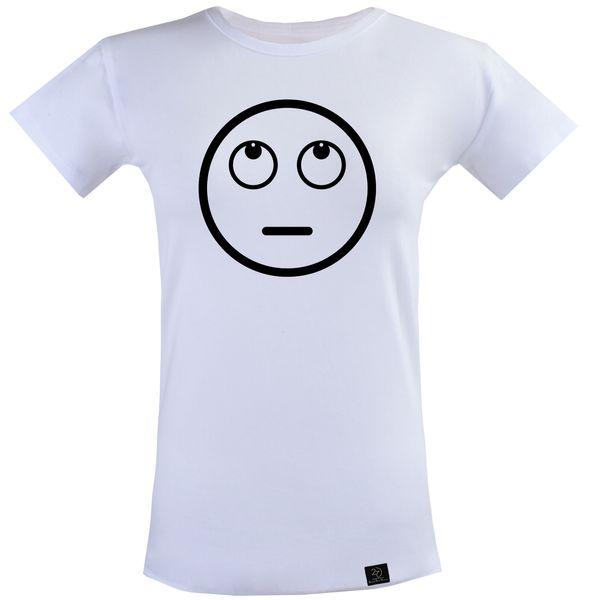 تی شرت آستین کوتاه زنانه 27 مدل Indifferent کد T24 رنگ سفید
